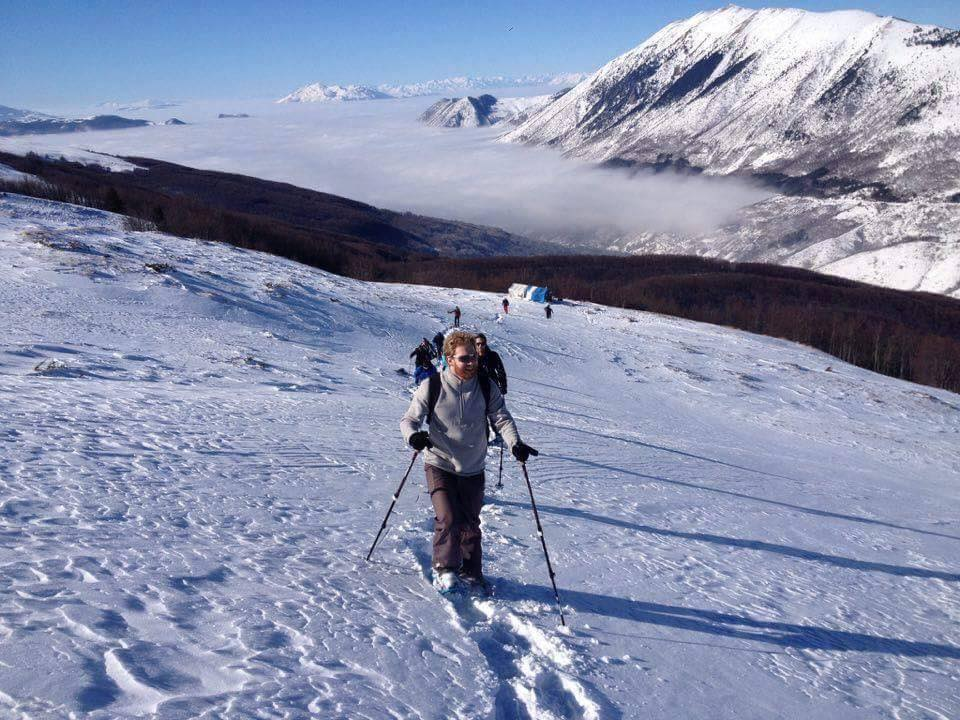 Snow-shoeing adventure in Rugova Mountains
